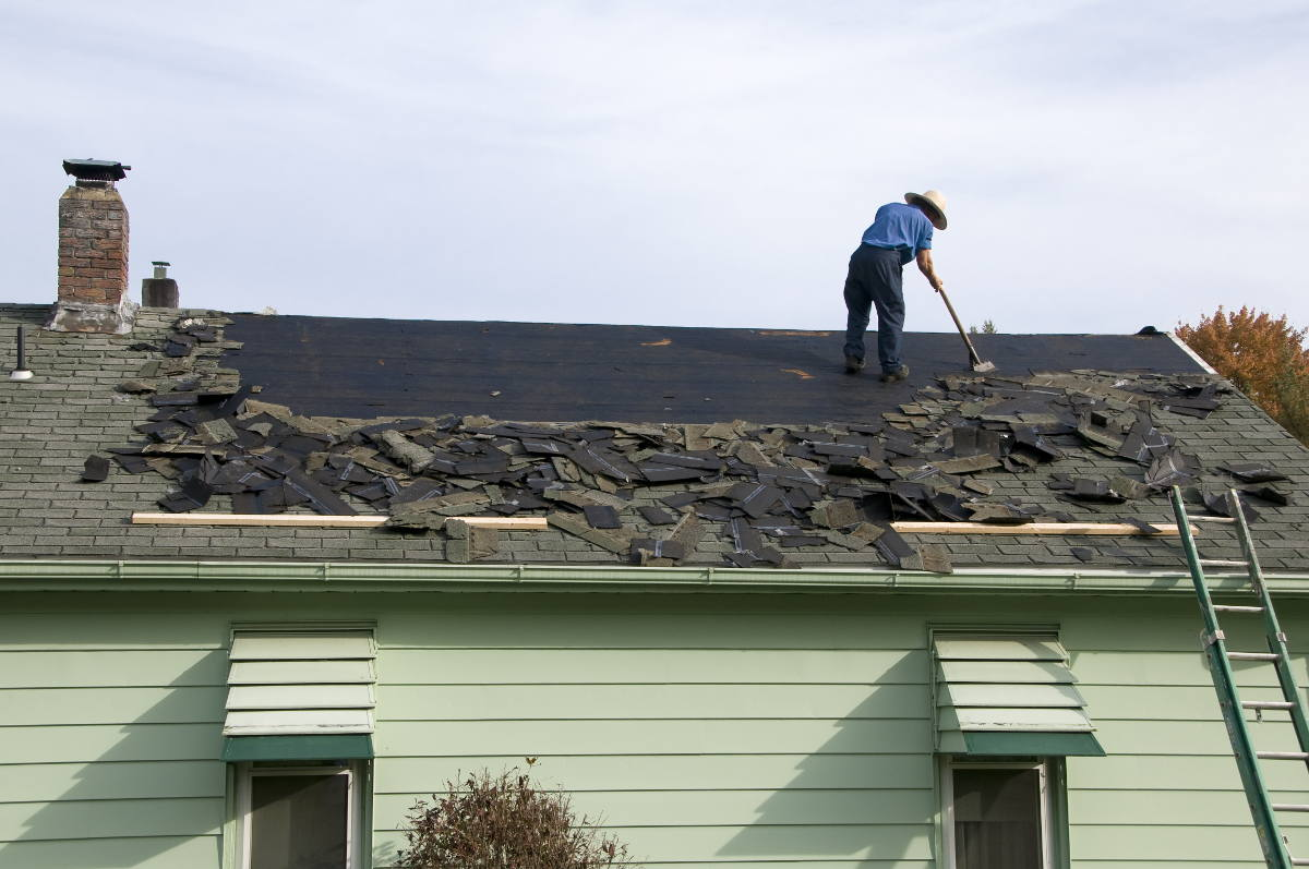 replacing an old roof